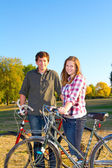 Cycling Couple — Stockfoto