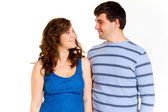 Attractive Couple Isolated — Stock Photo