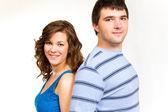 Casal atraente isolado — Fotografia Stock