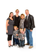 Family of Six Isolated — Stock Photo