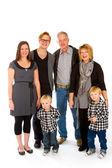 Family of Six Isolated — Stock Photo