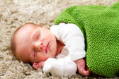 Newborn Baby Boy Sleeping — Stock Photo