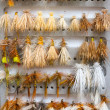 Stock Photo: Fly Box Detail Dry Flies
