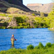 Stock Photo: Fly Fishing Deschutes River