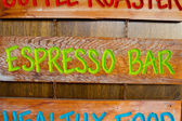 Espresso Bar Wood Sign — Stock Photo