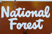 National Forest Sign — Stock Photo