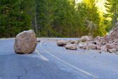 Landslide Blocked Road — Stock Photo
