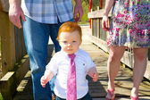 Little Guy Wearing A Tie — Stock Photo
