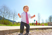 One Year Old Playing — Foto Stock