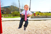 One Year Old Swinging — Stock Photo