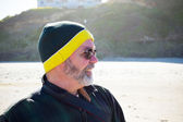 Portrait of Man at Beach — Stock Photo