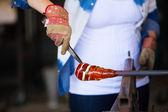 Woman Glassblower — Stock Photo