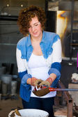 Woman Glassblower — Stock Photo