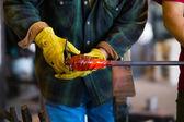 Expert Glassblower — Stock Photo