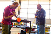 Glassblowing Men — Stockfoto