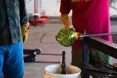 Glassblowing Men — Stock Photo