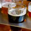 Beer Samplers at Brewery — Stock Photo
