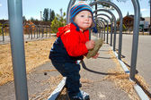 One Year Old Playing at Park — Stock Photo