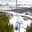 Couple on Ski Lift — Stock fotografie