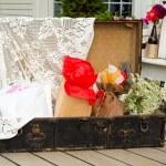 Wedding Gifts Suitcase — Stock Photo