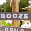 Stock Photo: Booze Wedding Sign