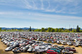 Auto Salvage Yard Junkyard — Stock Photo