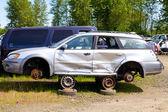 Auto Collision Junkyard Detail — Stock Photo