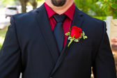 Groom Tuxedo Attire — Stock Photo