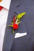 Groom Boutineer Detail — Stock Photo