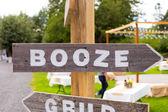 Booze Wedding Sign — Stock Photo