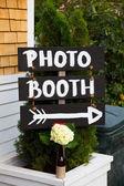 Photo Booth Wedding Sign — Stock Photo