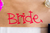 Hand Written Bride Sign — Stock Photo