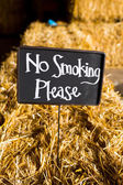 No Smoking Please Sign — Stock Photo