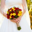 Bride Holding Bouquet Flowers — Stock Photo #37143847