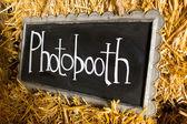 Photobooth Wedding Sign — Stock Photo