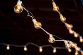 Wedding Decor Lights — Stock Photo