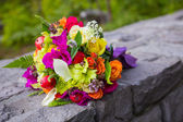 Bridal Bouquet Mixed Flowers — Stock Photo
