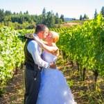 Bride and Groom Wedding Kiss — Stock Photo #37156075