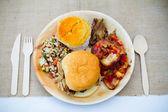 Detalle boda comida buffet — Foto de Stock