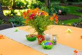 Wedding Reception Tables — Stock Photo