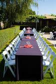 Wesele stoły recepcji — Zdjęcie stockowe