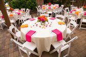 Wedding Reception Tables — Stock Photo