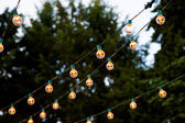Hanging Strands of Lights — Stock Photo