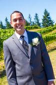Handsome Groom Wedding Day — Stock Photo