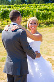 Retratos de noiva e noivo — Foto Stock