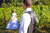 Selective Focus Bride and Groom — Stock Photo