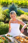 Wedding Reception Dinner — Stock Photo