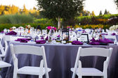 Wedding Reception Table Details — Stock Photo