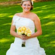 Beautiful Bride Wedding Day — Stock Photo