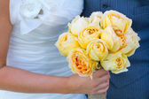 Bride Groom and Flowers — Stock Photo